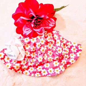 jumping beans hat sunhat UPF 50 baby pink floral